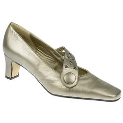 Imogen EE Fit Shoe Leather Upper Court Shoes in Pewter