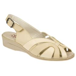Selena EE Fit Shoe Leather Upper Textile Lining Sandals in Beige