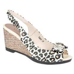 BEL11101 Leather Upper Sandals in Leopard