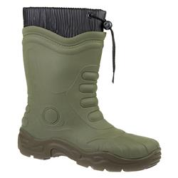 Angus Boots in Black, Green