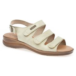 HSFLY1306 Leather Sandals in Beige