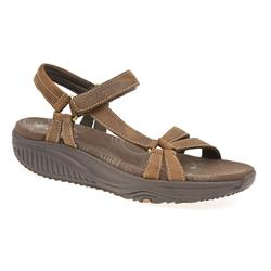 Female SKE1363 Leather Upper Textile Lining All Sandals in Black, Chocolate