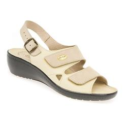 HSFLY1308 Nubuck Upper Leather Lining Sandals in Beige Mix, Blue Mix
