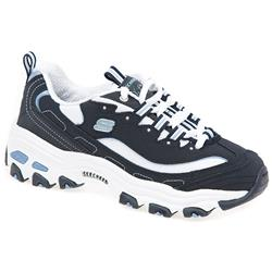 SKE1310 Leather Upper Textile Lining in Navy-White