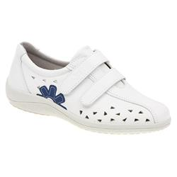 ACOFLY1102 Leather Casual Shoes in White