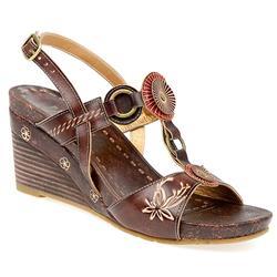 HSVIT1356 Leather Upper Sandals in Chocolate, Khaki
