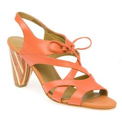 BEL13028 Leather Sandals in Orange