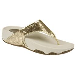 Tone Ups - Candy Bar Textile Lining Sandals in Gold