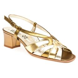 ZOD1304 Leather Sandals in Bronze