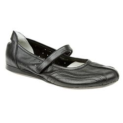 SNI1300 Leather Flats in Black, White