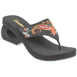 Spinners - Moonstruck 2 Textile Upper Sandals in Black, White