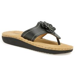 Female KAMP1311 Leather Upper Leather Lining All Sandals in Black