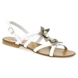Female LUNA1353 Leather Upper All Sandals in White