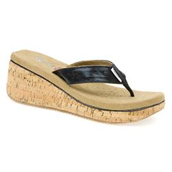 Female SKE1312 Textile Lining All Sandals in Black