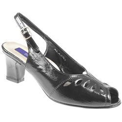 Ala503 Sandals in Black Patent