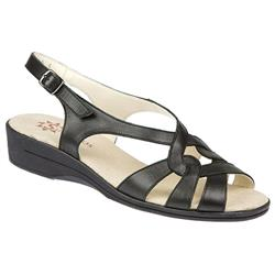 Female Seaton EE Fit Sandal Leather Upper Textile Lining All Sandals in Black