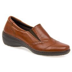 HAK1414 Leather Flats in Dark Tan, Navy