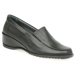 CALFLY1451 Leather in Black