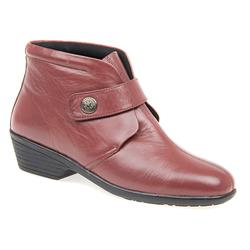 HSKEMP1402 Leather Boots in Brown, Burgundy, Navy