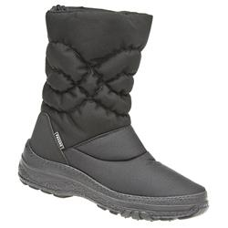 HSEF1406 Textile Boots in Black, Brown, Burgundy