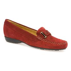 NAP1407 Suede Upper Leather Lining Casual Shoes in Red