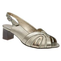 E Fit Shoe Leather Upper Sandals in Black, Pewter