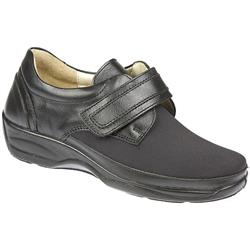 Blossom - 3E/4E Dual Fit Leather/Textile Upper Casual Shoes in Black, Brown