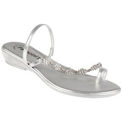 FAD701 Leather Upper Sandals in Silver