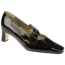 Imogen - EE Fit Leather Upper Court Shoes in Black Pat