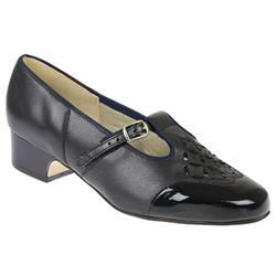 Helen - EEE Fit Leather Upper Court Shoes in Navy