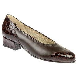 licity - E Fit Leather Upper Casual Shoes in Black Patent, Brown Patent