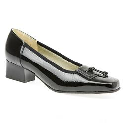 Catalina Leather Upper Court Shoes in Black