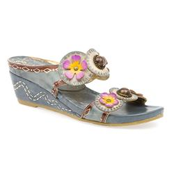 HSVT1550 Leather Sandals in Grey