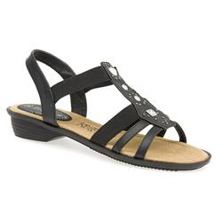 CT1305 Leather Lining Sandals in Black