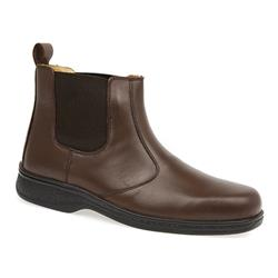 KEMP1408 Leather Boots in Brown