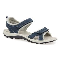 IMAC1512 Leather/Textile Upper Leather Lining Sandals in Beige, Blue