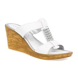 HSIT1501 Leather Sandals in Black, White