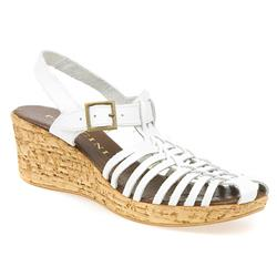 CX1300 Leather Sandals in White