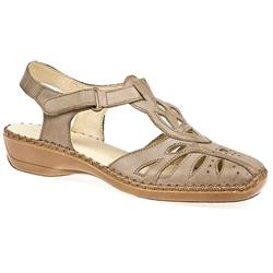DRSR1603 Leather Upper Leather/Other Lining Sandals in Taupe