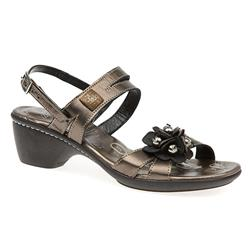 JES1503 Leather Sandals in Metallic
