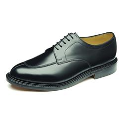 Westminster Leather Upper Leather Lining Lace Up in Black, Dark