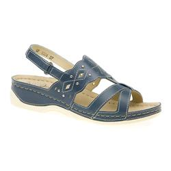 GF1504 Leather Sandals in Blue, White