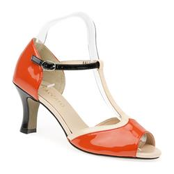 BEL15039 Leather Upper Sandals in Orange Multi