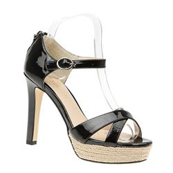 BEL15038 Leather Upper Sandals in Black Patent
