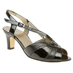 E Fit Shoe Leather Upper Sandals in Black