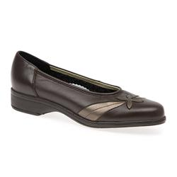 Blenheim - EE Fit Leather Upper Casual Shoes in Black Croc, Brown Multi