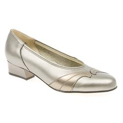 EE Fit Shoe Leather Upper Court Shoes in Black - Pewter, Pewter