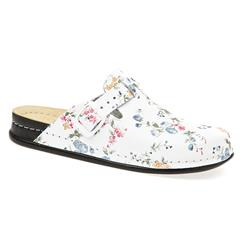 SEL1501 Leather Clogs in Floral