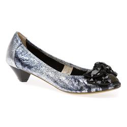 BEL15042 Leather Low to Mid Heels in Silver