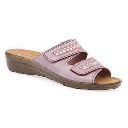 HSFLY1502 Leather Adjustable Mules in Lilac